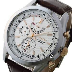 セイコー SEIKO クロノ クオーツ メンズ 腕時計 SPC129P1 ホワイト