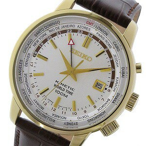 セイコー SEIKO キネティック クオーツ メンズ 腕時計 SUN070P1 ホワイト