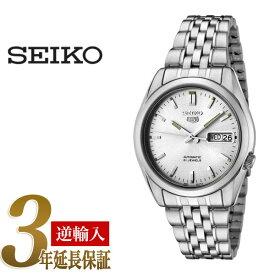 セイコー セイコー5 SEIKO5 セイコーファイブ メンズ 腕時計 SNK355 逆輸入セイコー 自動巻き メカニカル 機械式 オートマチック シルバー メタルベルト SNK355K メンズ 腕時計【あす楽】