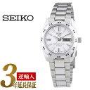 【逆輸入SEIKO5】セイコー5 レディース自動巻き腕時計 ホワイトダイアル シルバーステンレスベルト SYMG35K1
