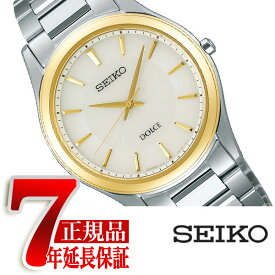 【正規品】セイコー ドルチェ&エクセリーヌ SEIKO DOLCE&EXCELINE セイコー ドルチェ SEIKO DOLCE ソーラー 腕時計 ペアウォッチ メンズ ホワイト SADL014