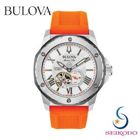 BULOVA ブローバ MarineStar マリンスター メンズ 機械式 オープンハート 腕時計 98A226 国内正規品 誕生日 プレゼント 贈り物 ギフト【送料無料】