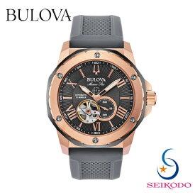 BULOVA ブローバ MarineStar マリンスター メンズ 機械式 オープンハート 腕時計 98A228 国内正規品 誕生日 プレゼント 贈り物 ギフト【送料無料】