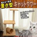 【ポイント10倍】キャットタワー 据え置き 爪とぎ 猫 タワー ねこタワー 猫タワー ベージュ 送料無料 PT0011A