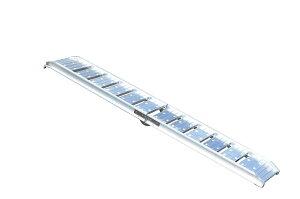 【ポイント10倍】アルミ ラダーレール TYPE-C ストレートタイプ [アルミブリッジ アルミスロープ コンパクト 折りたたみ 二つ折りタイプ アルミラダーレール トランポ バイク 歩み板 農機具