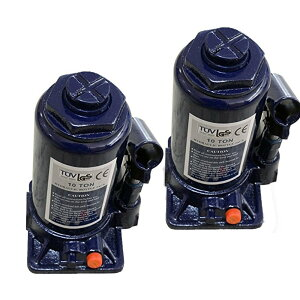 【2個セット】油圧ジャッキ【だるまジャッキ】 10t 10トン ボトルジャッキ 安全弁付 小型 簡単 タイヤ交換 送料無料 A58ISET2