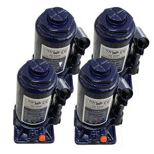 【4個セット】油圧ジャッキ【だるまジャッキ】 10t 10トン ボトルジャッキ 安全弁付 小型 簡単 タイヤ交換 送料無料 A58ISET4
