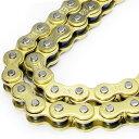 バイクチェーン 520-110L ゴールドチェーン ハードメタルチェーン 【バイクチェーン 消音タイプ】 送料無料 A59BB