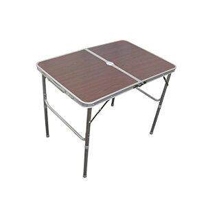 レジャーテーブル 折りたたみ テーブル レジャー アウトドア テーブル ピクニックテーブル 幅 90cm ブラウン 茶色 アルミテーブル 折りたたみテーブル アウトドアテーブル キャンプ バーベキ