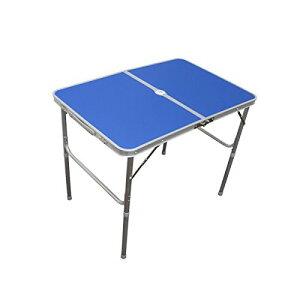 レジャーテーブル 折りたたみ テーブル レジャー アウトドア テーブル ピクニックテーブル 幅 90cm スカイブルー 青色 アルミテーブル 折りたたみテーブル アウトドアテーブル キャンプ バー