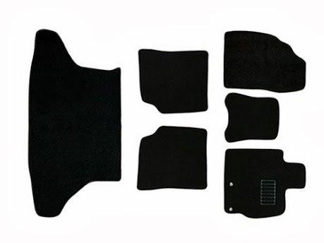 フロアマット プリウス ZVW30系 PRIUS 6P 6点セット カーマット カーフロアマット ラゲッジマット付 黒 ブラック トランクマット トヨタ TOYOTA 送料無料 MAT003