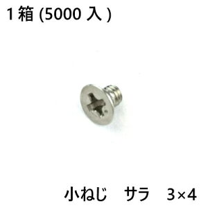 小ねじ ステン サラ 3×4 5000入