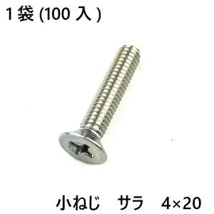 小ねじ ステン サラ 4×20 100入