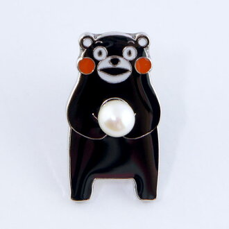 Bear mount Freshwater Pearl brooch | Main character accessories so-called stickpin / bear / anime/bear / funny / Kumamoto Prefecture adult care! men's women's