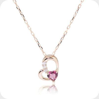 トルマリンと三粒ダイヤのネックレス-Jewelry_Museum_ジュエリーミュージアム