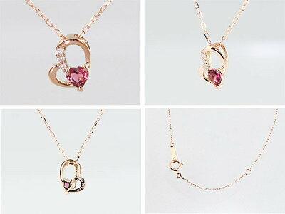 トルマリンと三粒ダイヤのネックレス1