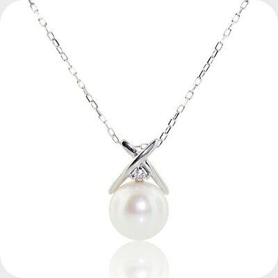 アコヤ真珠とダイヤモンドのネックレス-Jewelry_Museum_ジュエリーミュージアム
