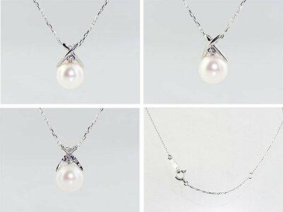 アコヤ真珠とダイヤモンドのネックレス1