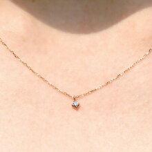ダイヤモンド_ネックレス_K10PG-Jewelry_Museum_ジュエリーミュージアム