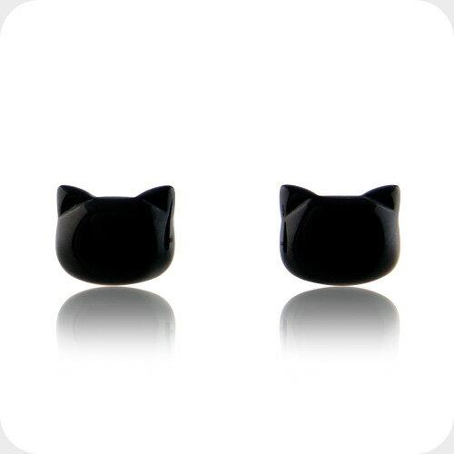 黒猫 ピアス ねこ 猫 ゴールド オニキス ピアス 10金 K10レディース 女性 誕生日 プレゼント ギフト コンビニ受取対応商品