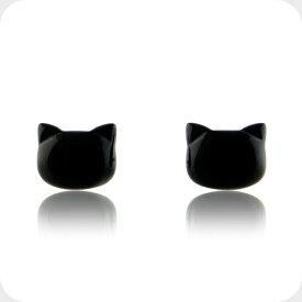 黒猫 ピアス ねこ 猫 ゴールド オニキス ピアス 10金 K10レディース 女性 誕生日 プレゼント ギフト