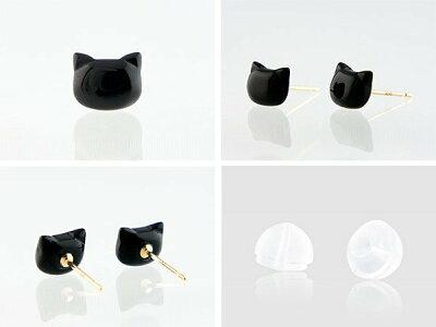 オニキスの黒猫ピアス1