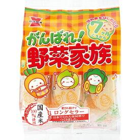 【エントリーでP10倍 】岩塚製菓 がんばれ野菜家族 6袋(1ケース)(YB)