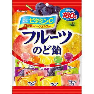 カバヤ フルーツのど飴 180g×10個×2箱(計20個) (YB)
