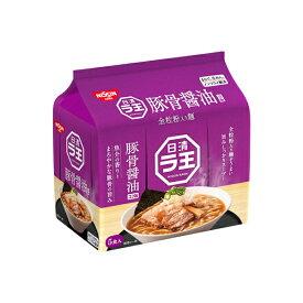 日清ラ王 豚骨醤油 5食パック 490g×6個入り (1ケース) (MS)