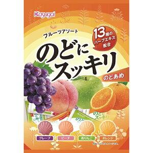 春日井 のどにスッキリフルーツアソート 118g(個装紙込み)×12袋入り (1ケース) (YB)