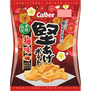 カルビー 堅あげポテト梅味 60g×12個入り (1ケース) (MS)