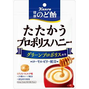 カンロ 健康のど飴たたかうプロポリスのど飴 80g×48袋入り (1ケース) (MS)