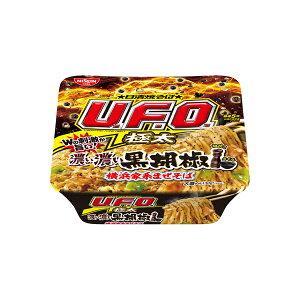 日清焼そばU.F.O.極太 濃い濃い黒胡椒 横浜家系まぜそば 160g×12個入り (1ケース) (MS)