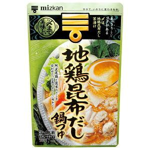 ミツカン 〆まで美味しい地鶏昆布だし鍋つゆストレート 750g×12個入り (1ケース) (KT)