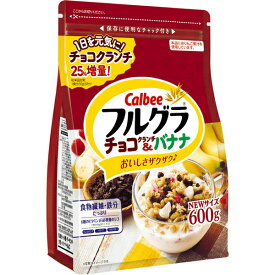 カルビー フルグラチョコクランチ&バナナ 600g×6個入り (1ケース)(SB)