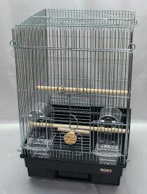 HOEI 35手のりG (銀色メッキ)ブラック底(鳥かご、ケージ)