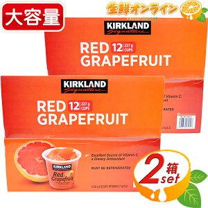 ≪2箱セット≫【KIRKLAND】レッドグレープフルーツ 227g ×12カップ×2箱セット KIRKLAND Signature RED GRAPEFRUIT カークランドシグネチャー 大容量! グレープフルーツ ルビー シロップ漬け 冷蔵 果物 フ