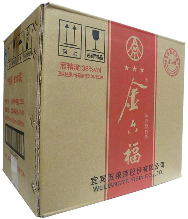 【中国酒】金六福 きんろっぷく 475ml 38度 6本入り