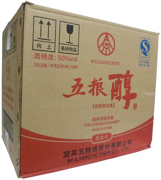 【中国酒】五粮醇 五糧醇 50度 500ml     6本入り