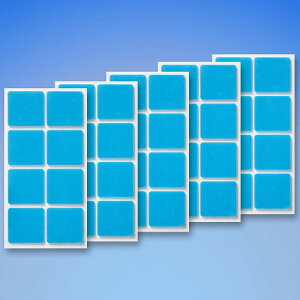 【クリックポスト対応】くりぴた はがせるポスターテープ 壁紙用 (M) 28mm角 (8片付) ×5シート