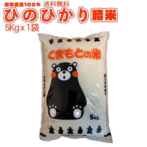 送料無料 熊本のおいしいお米 ひのひかり 5kg×1 令和元年 熊本県産100%