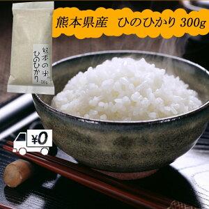 送料無料 熊本のおいしいお米 ひのひかり 300g×1 ポイント消費 2合 お試し 令和元年 熊本県産100%