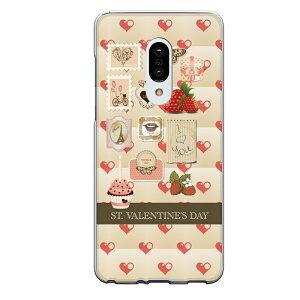 AQUOS zero2専用スマホケース バレンタインデー Valentine's day ハート 苺 切手