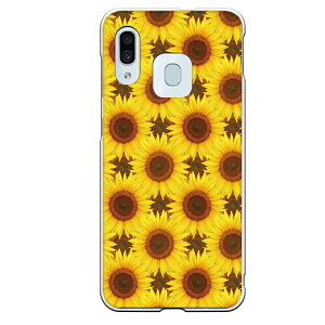 Galaxy A30専用スマホケース 向日葵 パターン 黄色 花 フラワー 実写 リアル