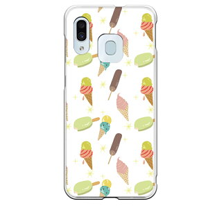 Galaxy A30専用スマホケース アイスクリーム キャンディー ソフトクリーム コーン カラフル キラキラ