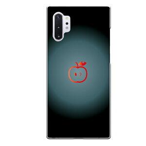 Galaxy Note10+専用スマホケース apple りんご シンプル ブラック グラデーション レッド