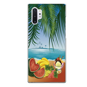 Galaxy Note10+専用スマホケース 常夏 summer スイカ バナナ ぶどう パフェ 海 島