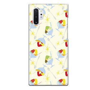 Galaxy Note10+専用スマホケース かき氷 スイカ フルーツ キラキラ さくらんぼ アイス かわいい みかん メロン 果物