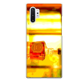 Galaxy Note10+専用 ウイスキーボトル ウヰスキー whisky お酒 飲み物 ドリンク リアル おしゃれ 油彩 アルコール 橙色 お洒落なBAR