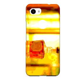 Google Pixel 3 XL専用 ウイスキーボトル ウヰスキー whisky お酒 飲み物 ドリンク リアル おしゃれ 油彩 アルコール 橙色 お洒落なBAR